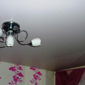 белый матовый натяжной потолок в балашихе