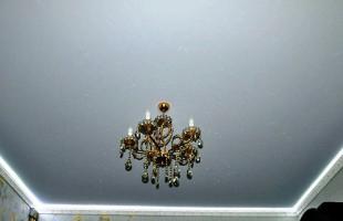 белый матовый натяжной потолок в балашихе(4)