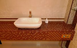 ремонт ванной комнаты и санузла в коттедже в Долгопрудном (6)