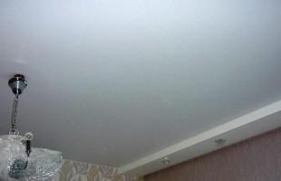 белый матовый натяжной потолок в балашихе(3)